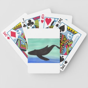 Beach Themed Whale Bicycle Playing Cards