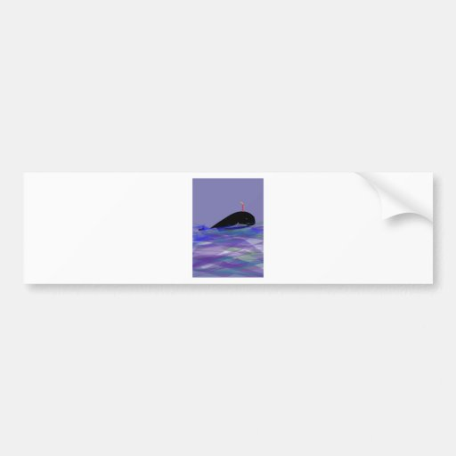 Whale Birthday Car Bumper Sticker