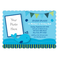 Whale Birthday Invitations