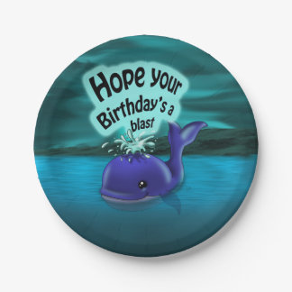 Whale Birthday Paper Plates