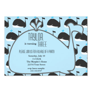 Whale Birthday Party Invitation