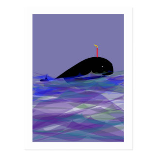 Whale Birthday Postcard