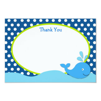 Whale Birthday Thank You Cards
