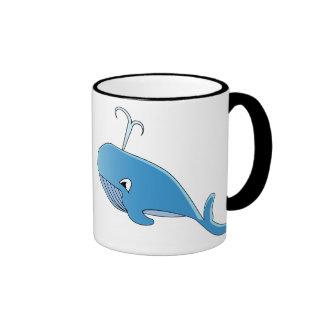 Whale - Black 11 oz Ringer Mug