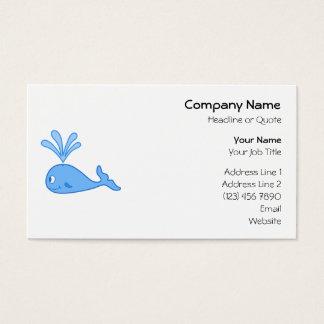 Whale, Blue. Business Card