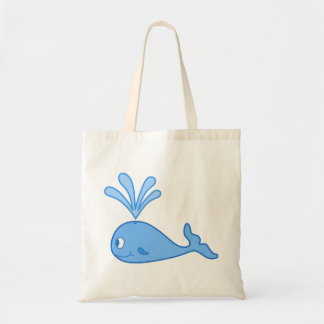 Whale, Blue. Tote Bag