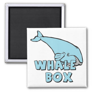 WHALE BOX 2 INCH SQUARE MAGNET