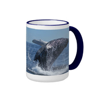 Whale breach, whale watching ringer mug