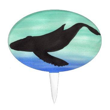 Beach Themed Whale Cake Topper