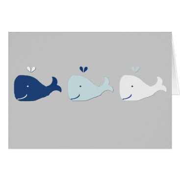 Beach Themed Whale Card