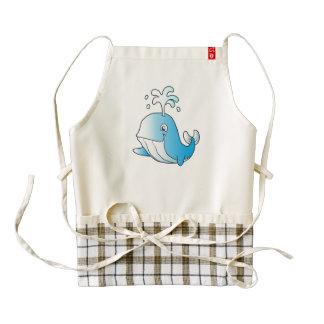 whale cartoon zazzle HEART apron