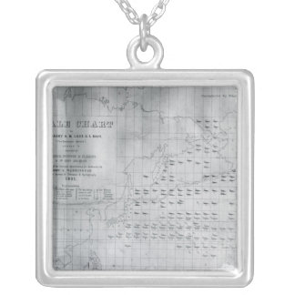 Whale Chart of the North Pacific 1851 Jewelry