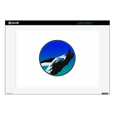 "Beach Themed Whale Decals For 15"" Laptops"