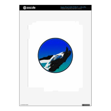 Beach Themed Whale Decals For iPad 3