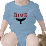 Whale Design SCUBA Dive Infant Baby T-shirts