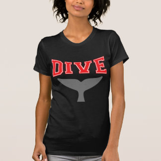 Whale Design SCUBA Dive Ladies Dark Shirt