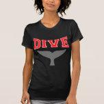 Whale Design SCUBA Dive Ladies Dark Shirts