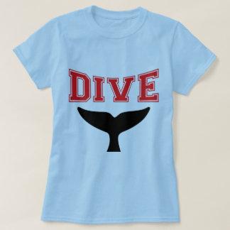 Whale Design SCUBA Dive Ladies T-Shirt