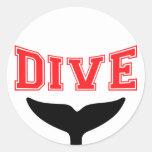 Whale Design SCUBA Dive Sticker