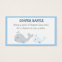 Whale Diaper Raffle Tickets