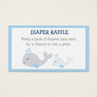 Whale Diaper Raffle Tickets