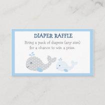 Whale Diaper Raffle Tickets Enclosure Card