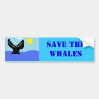 whale dive (2) car bumper sticker