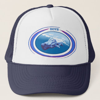 Whale Dive Trucker Hat