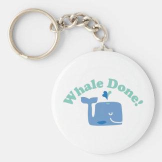 Whale Done! Basic Round Button Keychain
