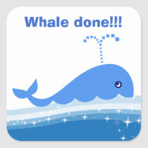 """""""Whale done!"""" Incentive Stickers for Students"""