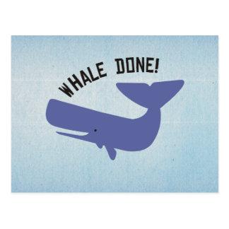 Whale Done Postcard