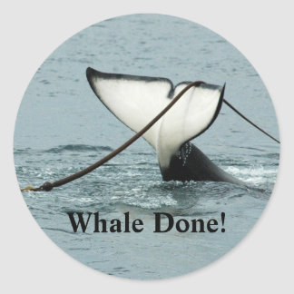 Whale Done! Sticker