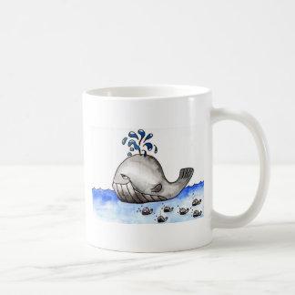 Whale Family Classic White Coffee Mug