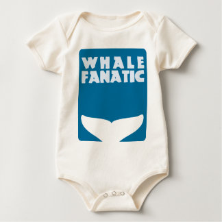 Whale fanatic baby bodysuit