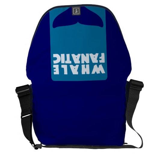 Whale fanatic messenger bag