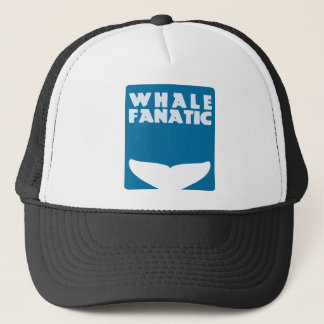 Whale fanatic trucker hat