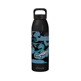 Whale Fantasy of stars custom water bottle