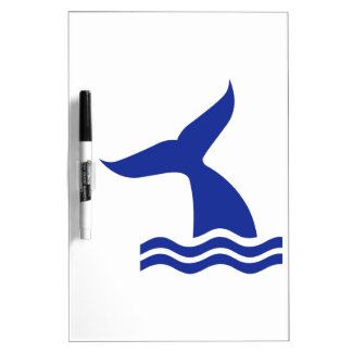 Whale fin waves dry erase whiteboards