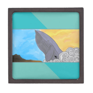 Whale, Fish, and the Elements Jewelry Box
