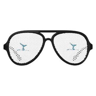 Whale fish fin aviator sunglasses