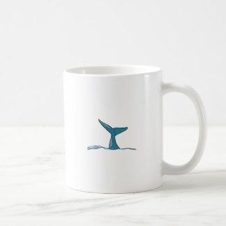 Whale fish fin coffee mug
