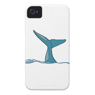 Whale fish fin iPhone 4 cover