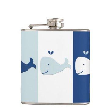 Beach Themed Whale Flask