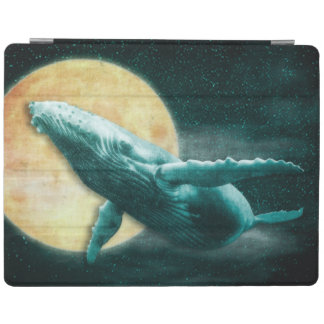 Whale Flying to The Moon Cubierta iPad 2/3/4 Cover