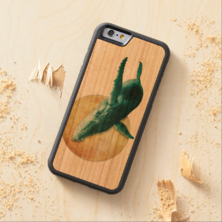 Whale Flying to The Moon iPhone 6 Bumper Wood Case