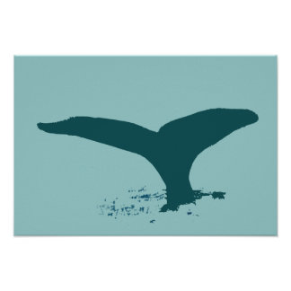 Whale for walls poster