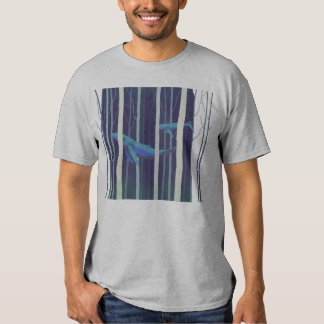 Whale forest t shirt