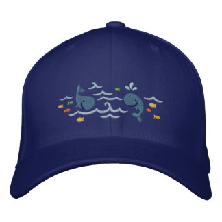 Whale Fun Embroidered Baseball Cap