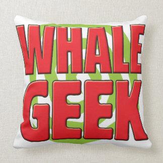 Whale Geek Throw Pillow