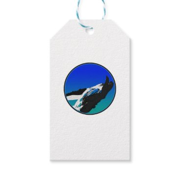 Beach Themed Whale Gift Tags